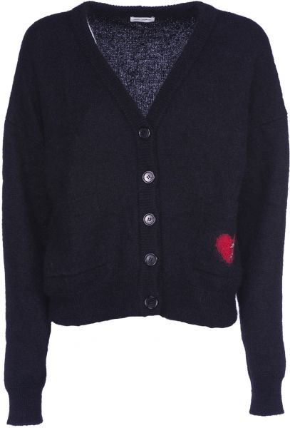logo patch sweater - Blue Saint Laurent Authentic Cheap Prices Authentic Ebay Cheap Online Buy Cheap New Arrival OVSra5RL