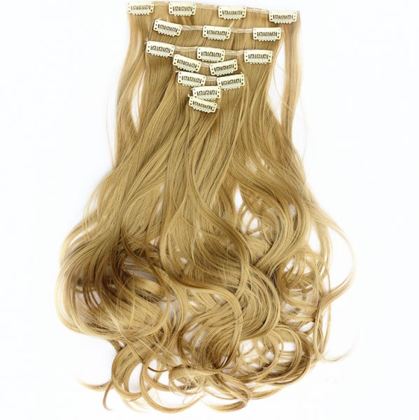 Souq Fashion Fluffy 7 Sets Long Curly Hair Extension Can Be Permed