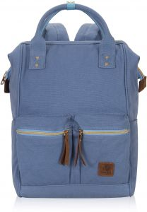 0850a2e23cb Veegul Stylish Doctor Style Multipurpose Canvas School Travel Backpack for  Men Women Dual Pockets Light Blue D