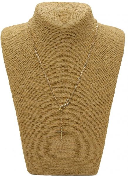 infinity yellow d to cross passport layered products gold necklace