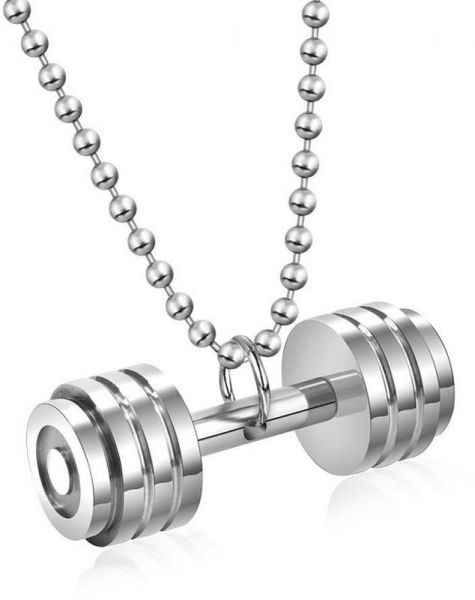 fashion necklace p carousell dumbbell s jewellery unisex women on photo