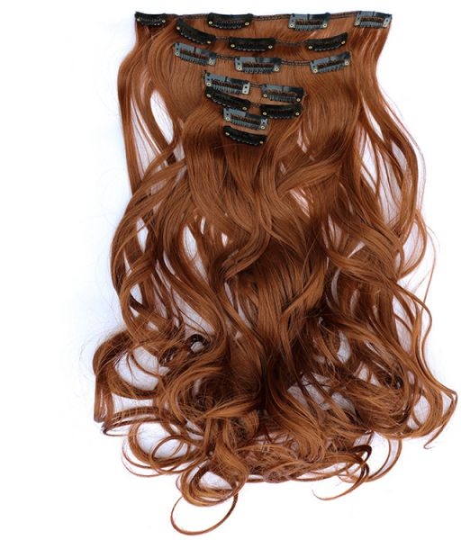 Souq 7pcs Long Curly Hair Extension 50cm Red Color Can Be Permed