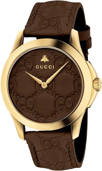 7ed830d3df901 Gucci Women's Brown Dial Leather Band Watch - YA1264035 | KSA | Souq