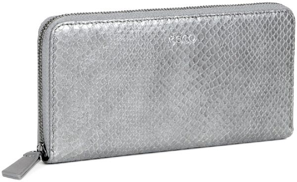 90a15a31ab5d Ecco Light Grey Leather For Women - Zip Around Wallets