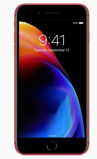 Apple Iphone 8 Plus With Facetime - 256 GB, 4G LTE, Red, 3 GB Ram, Single Sim