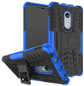 Xiaomi Redmi Note 4X Armor Case Heavy Duty Shockproof PC TPU Dual Layer Rugged Back Cover with Stand Holder Blue YenT