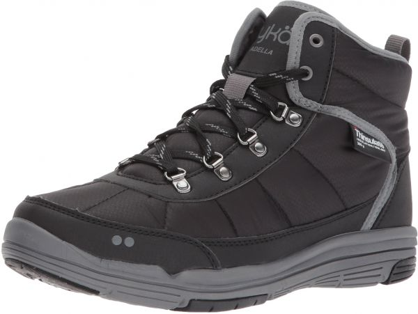 Ryka Women's Adella Fashion Boot, Black/Slate Grey/Black, 7.5 M US