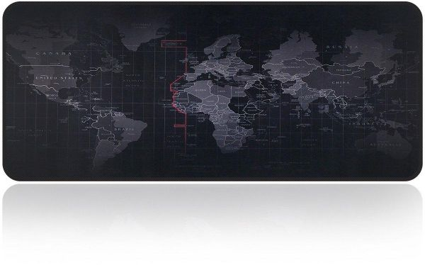 World Map Extended Non Slip Rubber Gaming Mouse Pad 90cmx40cm