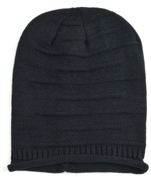 416b3c5c849 Black Beanie   Bobble Hat For Unisex
