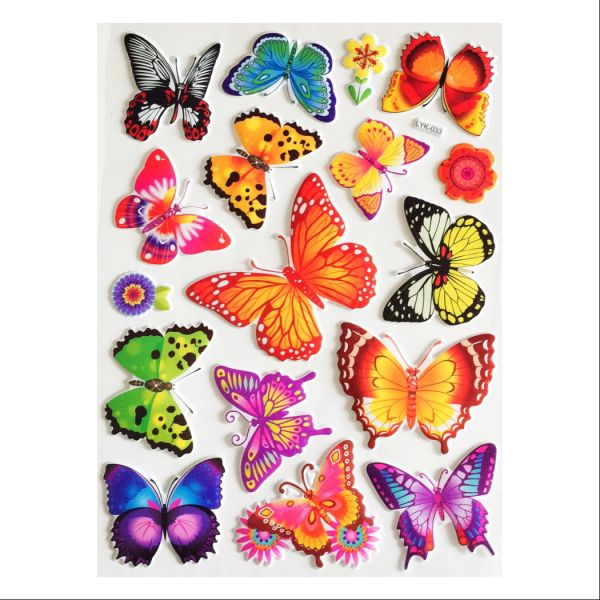 3D Colourful Butterflies Home Decor Stickers
