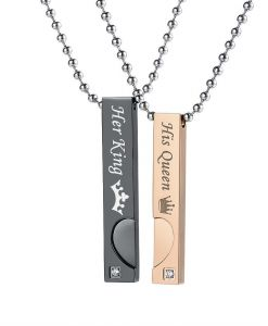 Gagafeel Heart Pendant Couple Necklaces Stainless Steel Necklace Best Gift  for Lover Men Female Fashion JewelryGagafeel Heart Pendant Couple Necklaces  ... 0b53e30270d0