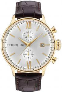 0d42da7ec9 Cerutti 1881 Men's Gold & Silver Dail Leather Band Watch - C CRWA178SG04BR