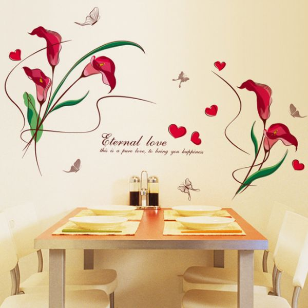 red calla love bedroom living room porch restaurant wall stickers