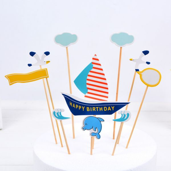 Cute Animal Jungle Animals Cake Toppers For Kids Baby Shower Birthday Party Decoration Supplies