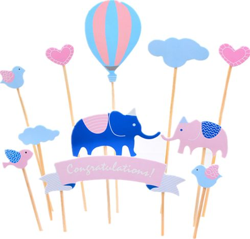 Souq Elephant Cake Cupcake Topper Picks For Its A Boy Baby Shower