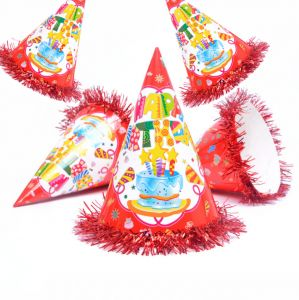 c64b1cad877 5pcs Cake Birthday Fashion Lovely Celebration Cone Hats Festive Birthday  Party Decoration Kids Fun Game