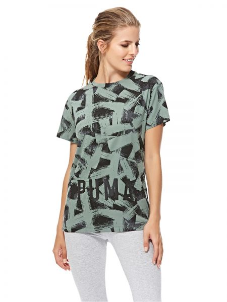 a31262f799d1b Puma FUSION Cropped AOP Tee For Women