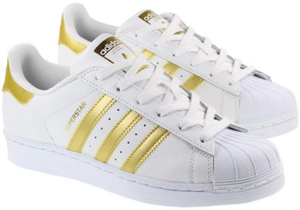 24316ee3e50 adidas Superstar Shoes for Men - White and Gold