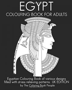 Egypt Colouring Book For Adults Egyptian Of Various Designs Filled With Stress Relieving Patterns