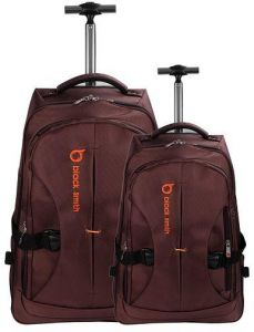 00f0de9b8f78 Blacksmith backpack trolley 2 pc set 22 inch and 18 inch Brown