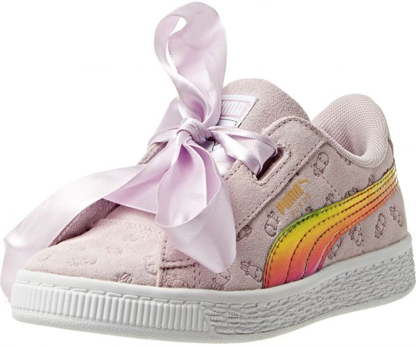 Puma Minions Suede Heart Fluffy PS Sneaker For Kids  dc151c286