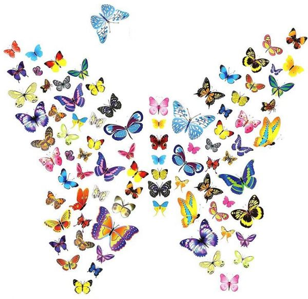 Souq | Wall Stickers DIY Art Butterfly Decor Crafts For Nursery ...