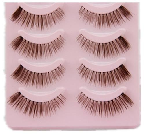 d586c8d8a7f 5 pairs Natural False Eyelashes Handmade Long Thick brown Crisscross  Extension Eye Lashes Artificial Soft Fake Lash | KSA | Souq