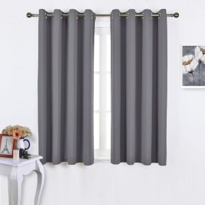 Nicetown Bedroom Blackout Curtains Panels Window Treatment Thermal Insulated Solid Grommet Blackout For Living Room Set Of 2 Panels 52 By 63 Inch Grey Buy Online Curtains Accessories At Best