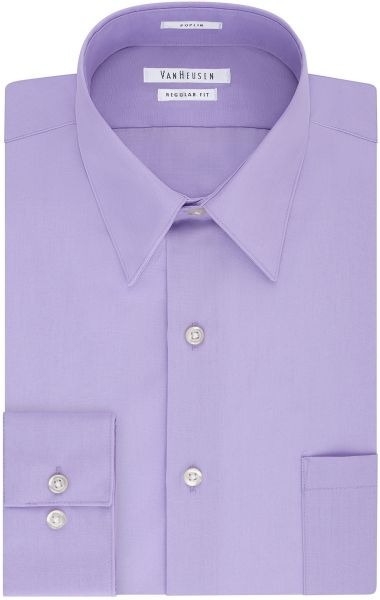 b1dfa6079cb Van Heusen Men s Poplin Regular Fit Solid Point Collar Dress Shirt ...