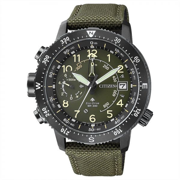 Citizen Men s Olive Green Dial Nylon Band Watch - BN4045-12X - Olive ... 0dc2431b2