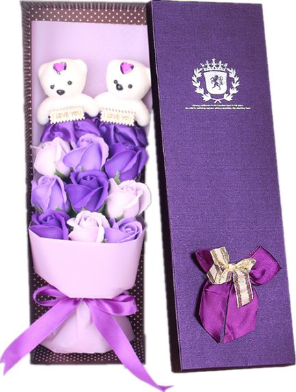 Purple 9 Artificial Rose Bouquet in a Gift Box with Scented Rose Petals Best Gift for Anniversary Birthday Mothers or Valentines Day  sc 1 st  Souq.com & Purple 9 Artificial Rose Bouquet in a Gift Box with Scented Rose ...