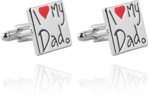 Tuxedo Shirts Cufflinks I Love My Dad For Family Wedding Party Birthday Gift Father