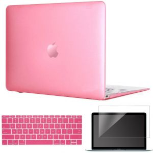 3in1 Case for MacBook 12 inch Retina Display - Matte Silky-Smooth Frosted Hard Shell Case Cover Skin For Apple Macbook Retina 12'' Laptop Computer [Gold, ...