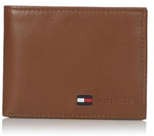 873c7ebd7c0a51 Tommy Hilfiger Men s Leather Passcase Wallet With removable ID window Tan