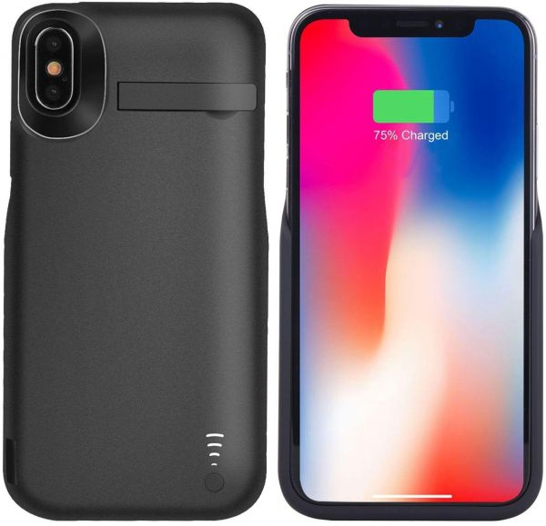uk availability 69710 a8fcb JLW Apple iPhone X Battery Case 5000mAh, Rechargeable External Battery  Portable Power Charger Protective Charging Case