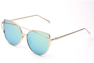 d76dc5793a 2018 Cat Eye vintage Brand designer rose gold mirror Sunglasses For Women  Metal Reflective flat lens Sun Glasses Female oculos