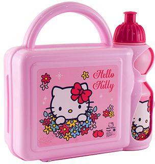 Hello Kitty Plastic Lunch Box Set - 113948  8f30d01117056