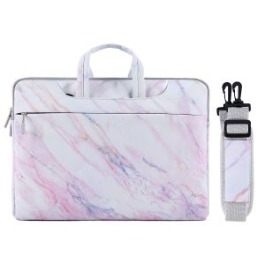 1e2ea6780 MOSISO Laptop Shoulder Bag for 13-13.3 Inch MacBook Pro, MacBook Air,  Notebook Computer, Ultraportable Protective Canvas Marble Pattern Carrying  Handbag ...