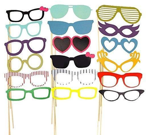 58PCS Photo Booth Props Party Favor for Wedding Party Graduation Birthday  Photo Booth Props DIY Kits of crowns top hats glasses masks party  decoration set cb223a2c657