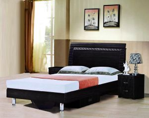 Galaxy Design Bedroom Set Dark Brown Color Finishing Gdf 8101