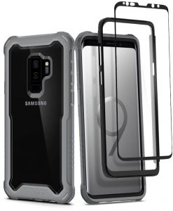 Spigen Hybrid 360 Galaxy S9 Plus Case with 360 Full Body Coverage Protection with Tempered Glass Screen Protector (Titanium Gray)