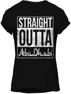 Straight Outta AbuDhabi-Graphic T-Shirt, Premium Cotton by ZEZIGN