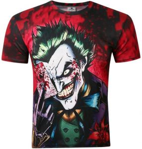 1732172183e BATMAN Dark Knight JOKER 3D printed man short sleeved Breathable T - shirt