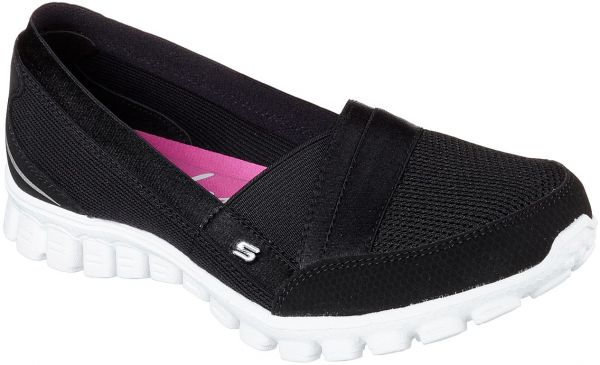 13031ed70a55 Skechers Ez Flex 2 Quipster Walking Shoes For Women- Black White ...