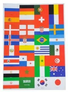 d884c79b0 2018 FIFA World Cup 32 Countries Flag Stickers 5cmx3.5cm Size Self-stick  for Face Laptop