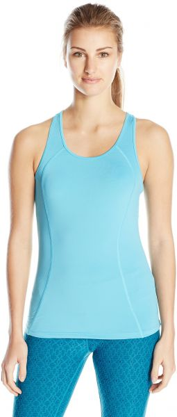 SHAPE activewear Women's S Seam Tank, Blue Atoll, X-Small