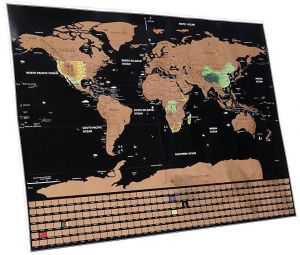 b76e72042 Scratch Off World Map Poster - with Saudi Arabia and Country Flags, Track  Your Adventures. Includes Scratcher and Memory Stickers, Perfect Gift for  ...