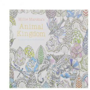 24 Pages Animal Kingdom English Edition Coloring Book For Children Adult Relieve Stress Kill Time Painting Drawing With Color Pencil