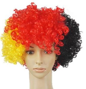World Cup Wig Football Fan National Flag Germany