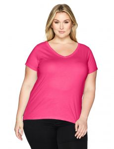 0573de4116339 Clementine Apparel Women s Plus Ladies Curvy V-Neck T-Shirt